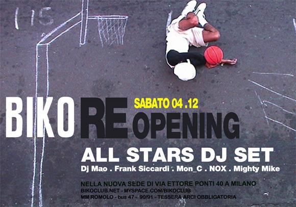 BIKO RE-opening