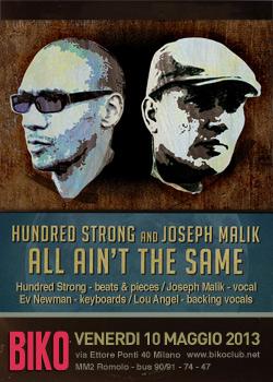Hundred Strong and Joseph Malik