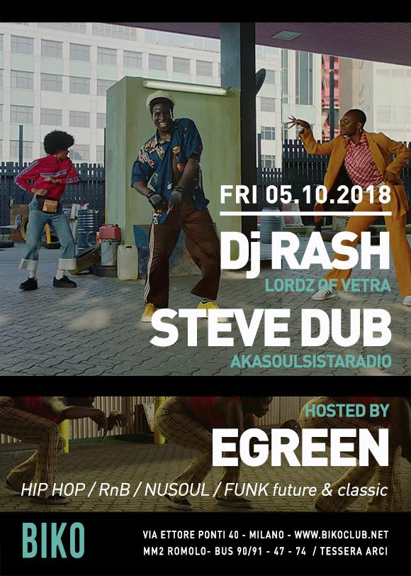Rash Steve Dub Egreen